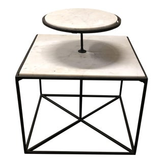 Selamat Designs 2-Tier Marble Side Table
