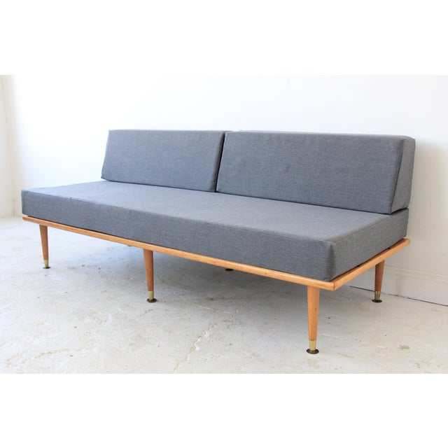 Mid-Century Modern Daybed in Granite Gray - Image 3 of 8