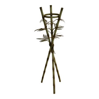Faux Bamboo Italian Regency Plant Stand