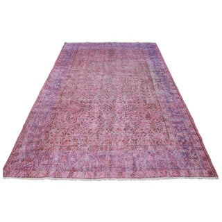 Vintage Lilac Over-Dyed Oushak Rug