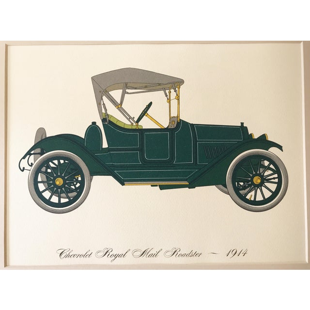Royal Chevrolet Used Cars: Vintage Lithograph 1914 Chevrolet Royal Mail Roadster