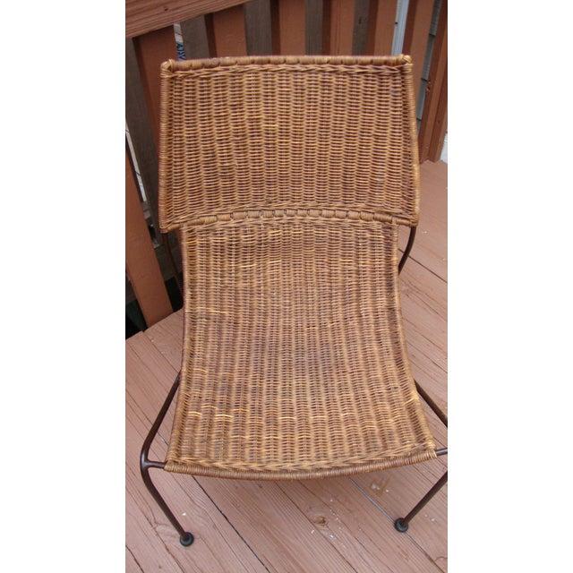 MCM Modern Wicker Iron Frederick Weinberg Chair - Image 3 of 10