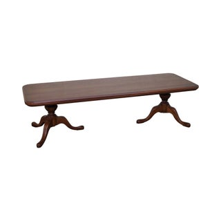 Pennsylvania House Solid Cherry Double Pedestal Coffee Table