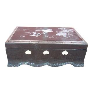 Inlaid Black Lacquer Box
