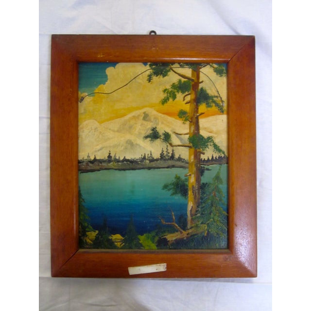 Image of Seeman New York Country Store Crate and Painting