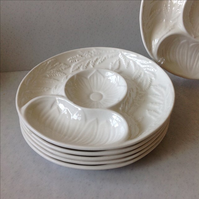 California Pottery Artichoke Plates - Set of 6 - Image 4 of 10