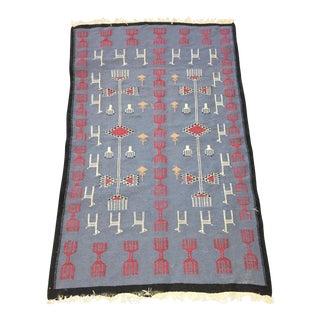 Tribal Flat Weave Rug - 5'3x3'1