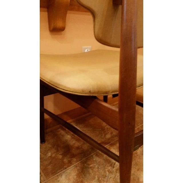Thonet Mid-Century Yellow Vinyl Chairs - Set of 3 - Image 9 of 11