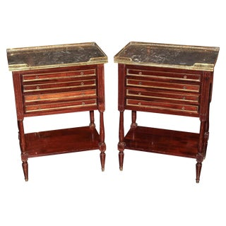 Pair of French Directoire Side Tables
