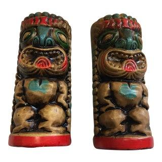Tiki Salt & Pepper Shakers - A Pair