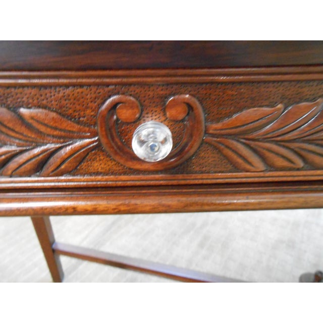 Mariette Himes Gomez Mahogany Console Table - Image 7 of 10
