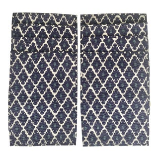 Blue & White Ikat Placemats - Set of 8