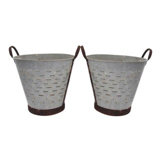 Turkish Rustic Olive Baskets - A Pair