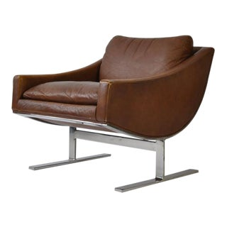 Pair of Kipp Stewart Leather Lounge Chairs