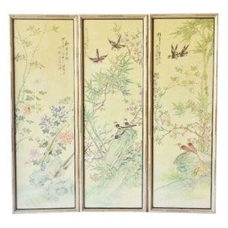 Bamboo Framed Art - Set of 3
