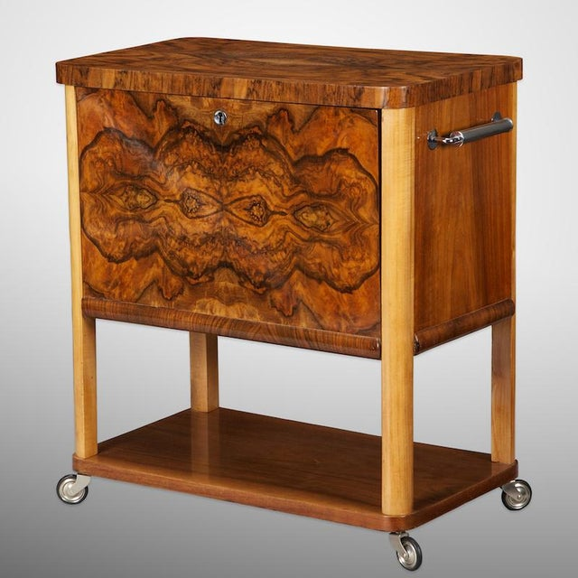 Image of French Art Deco Liquor Cabinet Cart