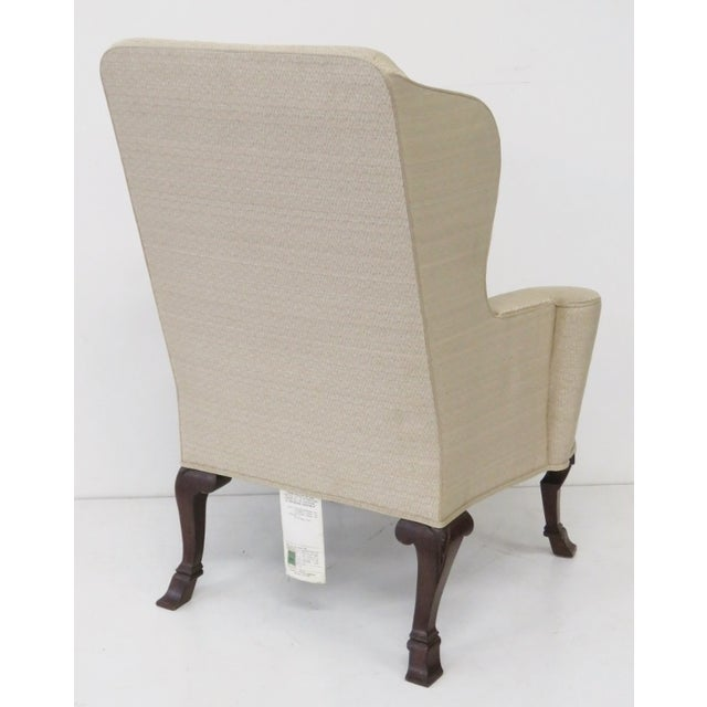 Image of Baker Ivory Wingback Chairs - A Pair