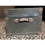 Image of Vintage WWII Era US Military Footlocker Trunk