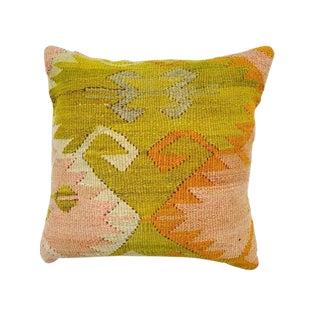 Yellow Turkish Kilim Pillow