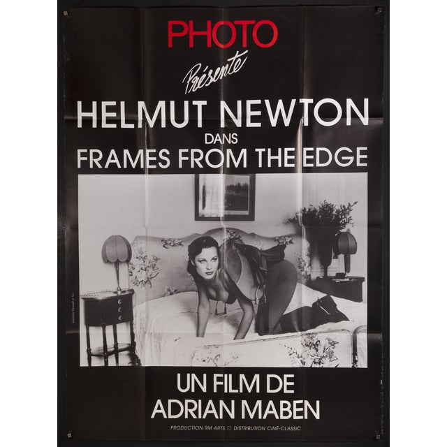 frames from the edge helmut newton film poster chairish. Black Bedroom Furniture Sets. Home Design Ideas