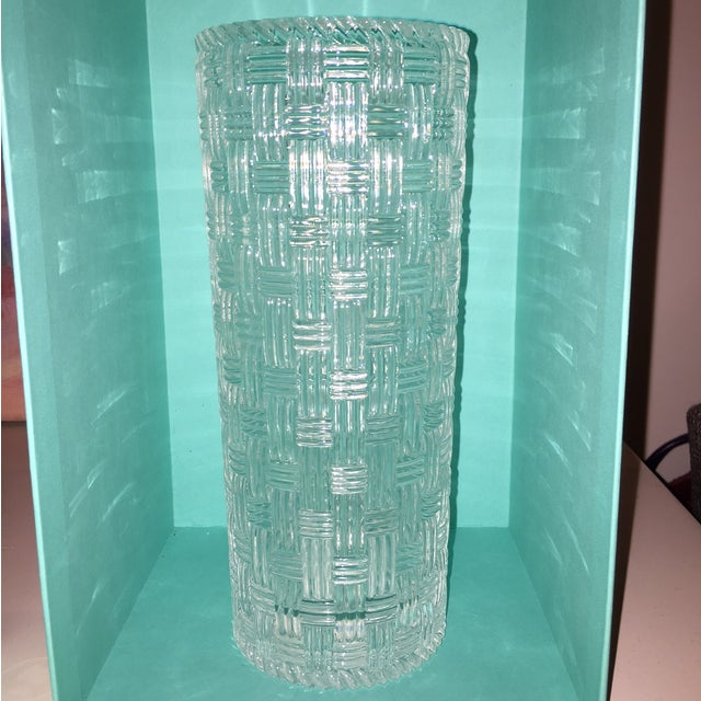 Tiffany Amp Co Woven Crystal Vase Chairish