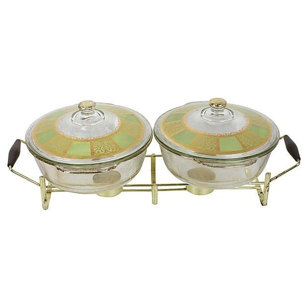 Image of Hollywood Regency Gold Buffet Server - A Pair