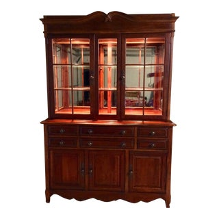 Drexel French Wood Display Cabinet
