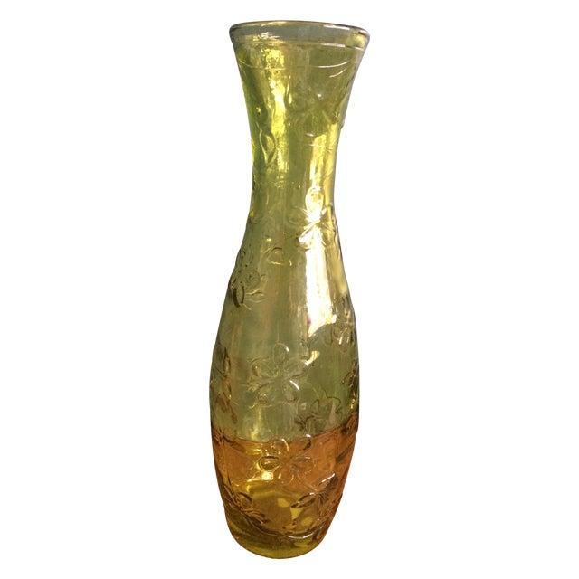 Green Glass Flower Vase - Image 1 of 10