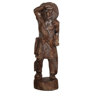Antique American Cigar Store Indian Sculpture United States circa 1880