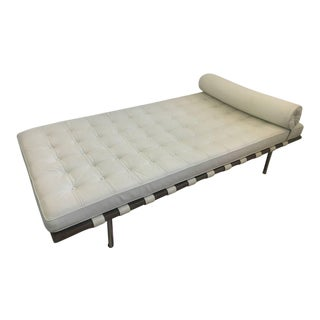 Barcelona Style Cream Leather Daybed