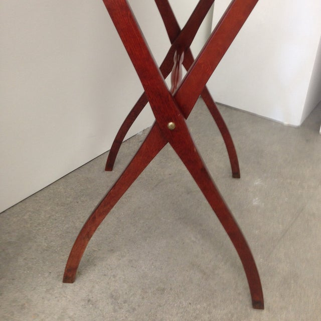 Mid-Century Leather Butler's Tray Table - Image 4 of 6