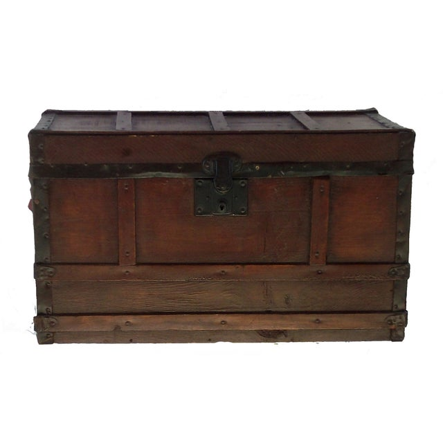 Small Antique Document Trunk - Image 1 of 3