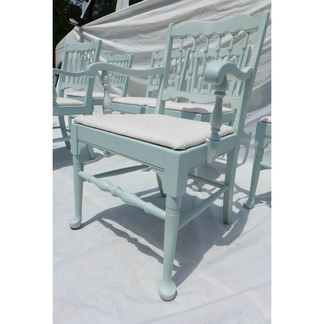 Cottage Mahogany Sea Breeze Chairs - Set of 6 - Image 3 of 8