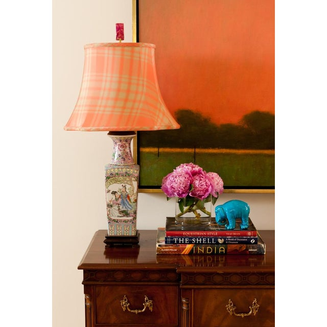 Image of 'High Noon' Pink Dyed Jasper Lamp Finial