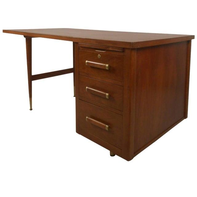 John Widdicomb Mid-Century Finished Back Executive Desk - Image 1 of 10