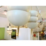 Image of Modernist Ivory and Brass Pendant Lights - A Pair