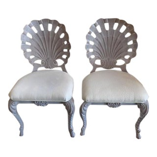 Grotto Style Shell Back Side Chairs - Set of 4