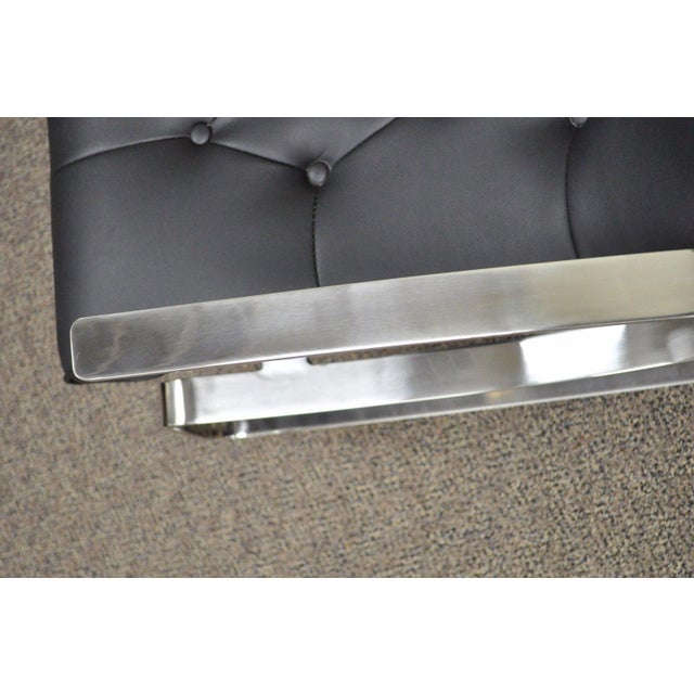 Contemporary Modern Chrome Steel Rocker Rocking Lounge Chair Mid Century Style - Image 7 of 10