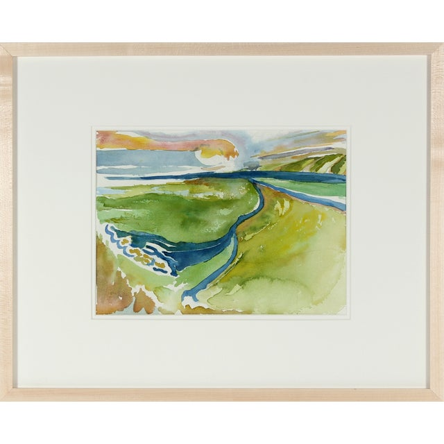 Image of Northern California Seascape Watercolor