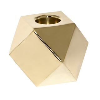 Modern Geometric Brass Tealight