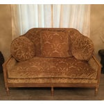 Image of Gold Crushed Velvet Oversized Love Seat