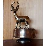 Image of Vintage Brass Deer Music Box