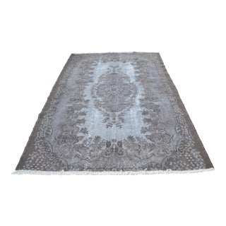 Oushak Gray Vintage Floor Carpet - 5′10″ × 8′10″