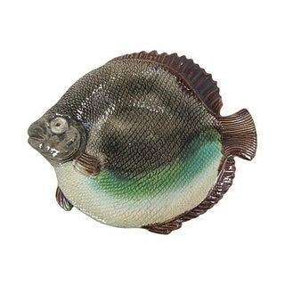 Antique Majolica Fish Dish