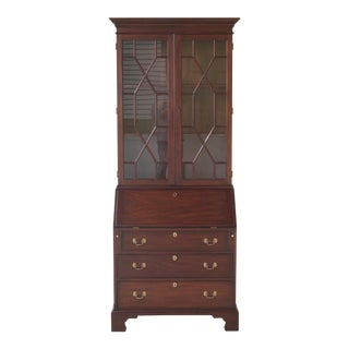 Henkel Harris Model #6006 Mahogany Secretary Bookcase Desk