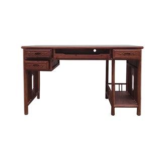Chinese Yellow Rosewood Modern Writing Desk
