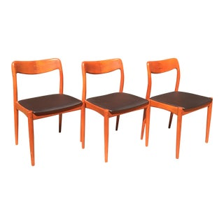 Teak Danish Modern Chairs by D-Scan - Set of 3