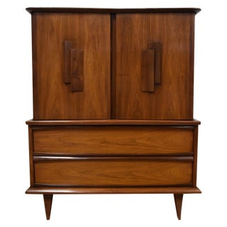 Mid Century Walnut Tall Dresser