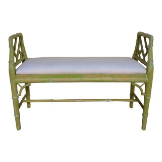 English Regency Style Faux Bamboo Bench