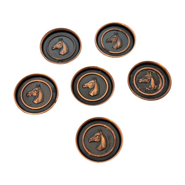 Bronze Equestrian Horse Coasters - Set of 6 - Image 1 of 6